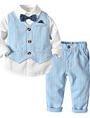 povoljno Kompletići za dječake-Dijete Dječaci Aktivan / Osnovni Dnevno / Škola Jednobojni Dugih rukava Regularna Pamuk Komplet odjeće Bež / Dijete koje je tek prohodalo
