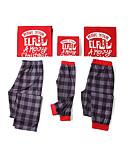 povoljno Obiteljski komplet odjeće-Obiteljski izgled Osnovni Božić Dnevno Geometrijski oblici Dugih rukava Majica s kratkim rukavima Red