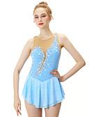 Χαμηλού Κόστους Φόρεμα για παγοδρομία-21Grams Φόρεμα για φιγούρες πατινάζ Γυναικεία Κοριτσίστικα Patinaj Φορέματα Ουρανί Spandex Ελαστικό Νήμα Υψηλή Ελαστικότητα Επαγγελματική Ανταγωνισμός Ενδυμασία πατινάζ Χειροποίητο Μοντέρνα Αμάνικο