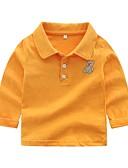 Χαμηλού Κόστους Βρεφικά Για Αγόρια μπλουζάκια-Μωρό Αγορίστικα Βασικό Μονόχρωμο Μακρυμάνικο Βαμβάκι Κοντομάνικο Ανθισμένο Ροζ / Νήπιο