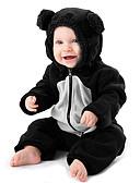 זול אוברולים טריים לתינוקות לבנים-מקשה אחת One-pieces כותנה שרוול ארוך קולור בלוק שחור ולבן ספורט פעיל / בסיסי בנים תִינוֹק / פעוטות