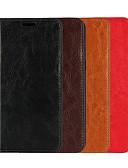 ราคาถูก กรณีอื่น ๆ-Case สำหรับ LG LG Nexus 5X / LG G7 / LG G7 ThinQ Wallet / Card Holder / with Stand ตัวกระเป๋าเต็ม สีพื้น Hard หนังแท้ / LG G6
