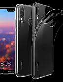 baratos Capinhas para Huawei-Capinha Para Huawei Huawei P20 / Huawei P20 Pro / Huawei P20 lite Transparente Capa traseira Sólido Macia TPU / P10 Plus / P10 Lite / P10