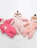 זול שמלות לתינוקות-מקשה אחת One-pieces כותנה שרוול ארוך טלאים טלאים שחור ואדום פעיל / בסיסי בנות תִינוֹק / פעוטות