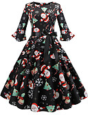 povoljno Stare svjetske nošnje-Audrey Hepburn Retro / vintage Haljine Hlače Žene Spandex Kostim Crn / Zelen / Red Vintage Cosplay Božić
