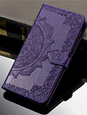 baratos Capinhas para Celulares-Capinha Para Samsung Galaxy S7 edge / S7 / S6 edge Carteira / Porta-Cartão / Com Suporte Capa Proteção Completa Mandala Rígida PU Leather