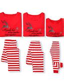 povoljno Obiteljski komplet odjeće-Obiteljski izgled Osnovni Božić Dnevno Životinja Dugih rukava Normalne dužine Majica s kratkim rukavima Red