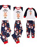 povoljno Obiteljski komplet odjeće-3 komada Obiteljski izgled Osnovni Božić Dnevno Slovo Dugih rukava Regularna Komplet odjeće Obala