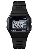 billige Digitalure-Herre Sportsur Digital Watch Japansk Digital Silikone Sort / Rose 30 m Vandafvisende Alarm Kalender Digital Mode - Sort Rosa / Kronograf / Stopur / Selvlysende i mørke