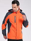 ราคาถูก กางเกงผู้ชาย-Deshengren® สำหรับผู้ชาย Hiking Jacket / แจ็คเก็ต 3 ใน 1 เดียว กลางแจ้ง ฤดูใบไม้ร่วง / ฤดูหนาว กันลม, กันน้ำ, รักษาให้อุ่น แจ็คเก็ตฤดูหนาว / Tops Skiing, แคมป์ปิ้ง & การปีนเขา, การล่าสัตว์