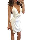 Χαμηλού Κόστους Μίνι Φορέματα-Γυναικεία Κλαμπ Βασικό Θήκη Φόρεμα Πάνω από το Γόνατο Τιράντες / Sexy