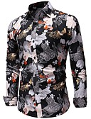 povoljno Muške košulje-Majica Muškarci Dnevno / Rad Geometrijski oblici Duga / Dugih rukava