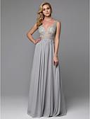 זול שמלות נשף-מעטפת \ עמוד צלילה עד הריצפה שיפון / תחרה גב פתוח נשף רקודים / ערב רישמי שמלה עם תחרה על ידי TS Couture®