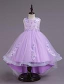 Χαμηλού Κόστους Λουλουδάτα φορέματα για κορίτσια-Παιδιά Κοριτσίστικα Γλυκός χαριτωμένο στυλ Πάρτι Αργίες Μαύρο & Κόκκινο Μαργαρίτα Φλοράλ Χάντρες Patchwork Κεντητό Αμάνικο Ως το Γόνατο Φόρεμα Λευκό