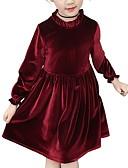 povoljno Haljine za djevojčice-Djeca Djevojčice Osnovni Jednobojni Dugih rukava Haljina Blushing Pink