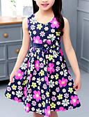 זול שמלות לבנות-שמלה ללא שרוולים פפיון / דפוס פרחוני ליציאה מתוק / סגנון רחוב בנות ילדים