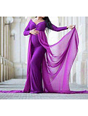 Χαμηλού Κόστους Φορέματα-Γυναικεία Κομψό στυλ street Swing Φόρεμα - Μονόχρωμο Μακρύ