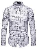 povoljno Muške košulje-Majica Muškarci Dnevno Geometrijski oblici Slim Obala / Dugih rukava