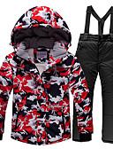 povoljno Klizačke haljine-ARCTIC QUEEN Dječaci Djevojčice Skijaška jakna i hlače Vjetronepropusnost Toplo Prozračnosti Skijanje Snowboarding Zimski sportovi POLY Neljepljivo Polyester Trenirka Snježni prsluk Majice Skijaška