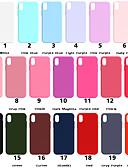 baratos Capinhas para iPhone-Capinha Para Apple iPhone XS / iPhone XR / iPhone XS Max Áspero Capa traseira Sólido Macia TPU