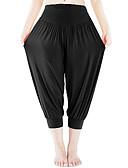 ราคาถูก เสื้อเอวลอยสำหรับผู้หญิง-สำหรับผู้หญิง สูงกว่าปกติ ฮาเร็ม กางเกงโยคะ สีพื้น น้ำเงินรอยัล สีแดงเบอร์กันดี ฝ้าย Modal Zumba ระบำหน้าท้อง Pilates ชุดกีฬาผู้หญิง 3/4 กระโปรง Capri ด้านล่าง ขนาดพิเศษ ชุดทำงาน / แห้งเร็ว / ยืด