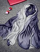 baratos Lenços e lenços femininos-Sem Manga 100% Silk Casamento / Festa / Noite Cachecol Feminino Com Franzido / Ondulado Xales / Lenços