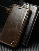 זול מגנים לאייפון-מגן עבור Apple iPhone 8 Plus / iPhone 7 Plus ארנק / מחזיק כרטיסים / עם מעמד כיסוי מלא אחיד קשיח עור PU