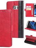 ราคาถูก เคสสำหรับโทรศัพท์มือถือ-Case สำหรับ Samsung Galaxy S7 edge Wallet / Card Holder / Flip ปกหลัง สีพื้น Hard หนัง PU