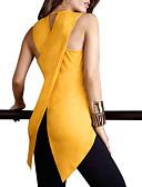 Χαμηλού Κόστους Ανδρικά μπλουζάκια και φανελάκια-Γυναικεία Μεγάλα Μεγέθη Αμάνικη Μπλούζα Εξόδου / Δουλειά Κομψό στυλ street / Πανκ & Γκόθικ Μονόχρωμο Μαύρο
