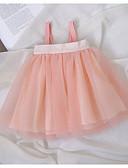 Χαμηλού Κόστους Βρεφικά φορέματα-Μωρό Κοριτσίστικα Ενεργό Dusty Rose Μονόχρωμο Πολυεπίπεδο Αμάνικο Φόρεμα Ανθισμένο Ροζ / Νήπιο
