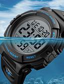 ราคาถูก นาฬิกาดิจิทัล-SKMEI สำหรับผู้ชาย นาฬิกาแนวสปอร์ต นาฬิกาทหาร ดิจิตอล PU Leather ดำ / เขียว 50 m กันน้ำ ปฏิทิน โครโนกราฟ ดิจิตอล ความหรูหรา ไม่เป็นทางการ - สีดำ สีทอง สีเขียว / นาฬิกาจับเวลา