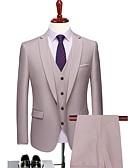 povoljno Odijela-Milky White Jednobojni Kroj po mjeri Poliester Odijelo - Stepenasti Droit 1 bouton / odijela