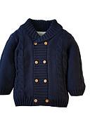 povoljno Džemperi i kardigani za bebe-Djeca Djevojčice Osnovni Jednobojni Dugih rukava Džemper i kardigan Navy Plava