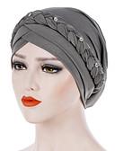 ราคาถูก หมวกสตรี-สำหรับผู้หญิง สีพื้น Butterfly ไนลอน รอยจีบ,วินเทจ ปาร์ตี้ วันหยุด-หมวกปีกกว้าง ทุกฤดู สีเทา สีเหลือง สีน้ำเงินกรมท่า / ผ้า