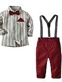 povoljno Kompletići za dječake-Djeca Dječaci Osnovni Dnevno Jednobojni Dugih rukava Normalne dužine Komplet odjeće Lila-roza