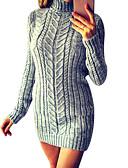 povoljno Haljine za NG-Žene Osnovni Korice Haljina Jednobojni Dolčevita Iznad koljena / Sexy