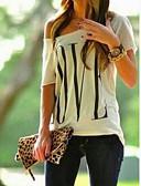 povoljno Maske za mobitele-Majica s rukavima Žene - Osnovni Dnevno Geometrijski oblici Na jedno rame Na jedno rame Obala / Proljeće / Ljeto / Jesen