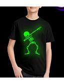 billige Topper til gutter-Barn Gutt Gatemote Trykt mønster Kortermet Normal T-skjorte Svart