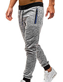 זול טישרטים לגופיות לגברים-בגדי ריקוד גברים בסיסי / סגנון רחוב יומי מכנסי טרנינג מכנסיים - אחיד / פסים אפור כהה אפור בהיר L XL XXL