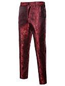 ราคาถูก กางเกงผู้ชาย-สำหรับผู้ชาย ซึ่งทำงานอยู่ / พื้นฐาน ทุกวัน Sport สูท กางเกง - รูปเรขาคณิต สีดำ สีม่วง ไวน์ L XL XXL