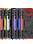 billiga Fodral och omslag-fodral Till LG LG X Power3 / LG V40 / LG V30 Stötsäker / med stativ Skal Tegel / Rustning Hårt PC / LG G6