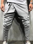 billige Jumpsuits og buksedresser til herrer-Herre overdrevet Daglig Joggebukser Bukser - Ensfarget Svart Militærgrønn Mørkegrå M L XL