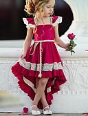 זול שמלות לבנות-שמלה א-סימטרי ללא שרוולים תחרה אחיד Party סגנון רחוב בנות ילדים
