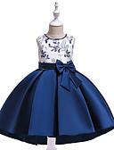 Χαμηλού Κόστους Λουλουδάτα φορέματα για κορίτσια-Παιδιά Κοριτσίστικα Ενεργό Γλυκός Πάρτι Αργίες Φλοράλ Patchwork Patchwork Στάμπα Αμάνικο Ασύμμετρο Φόρεμα Θαλασσί