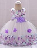זול שמלות לבנות-שמלה כותנה עד הברך ללא שרוולים תחרה פרחוני Party פעיל / בסיסי בנות תִינוֹק