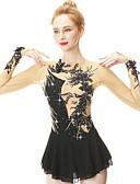 Χαμηλού Κόστους Φόρεμα για παγοδρομία-Φόρεμα για φιγούρες πατινάζ Γυναικεία Κοριτσίστικα Patinaj Φορέματα Μαύρο Ροζ Γιαν Βιολετί Spandex Ελαστικό Νήμα Υψηλή Ελαστικότητα Ενδυμασία πατινάζ Χειροποίητο Μοντέρνα Μακρυμάνικο / Παιδικά