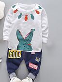 povoljno Kompletići za dječake-Dijete koje je tek prohodalo Dječaci Aktivan Dnevno Jednobojni Geometrijski oblici Dugih rukava Regularna Normalne dužine Komplet odjeće Obala