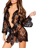 billiga Exotiska herrunderkläder-Normal Polyester Morgonrockar Sexig Enfärgad Bröllop Spets