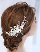 Χαμηλού Κόστους Πέπλα Γάμου-Κράμα Κομμάτια μαλλιών με Λουλούδι 1 τμχ Γάμου Headpiece