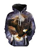 ราคาถูก เสื้อฮู้ดและเสื้อกันหนาว-สำหรับผู้ชาย ฮู้ด แขนยาว Street Chic Hoodie 3D / สัตว์